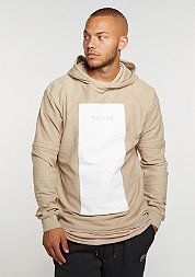 Hooded-Sweatshirt Tres Slick sand/white