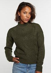 Sweatshirt Short Turtleneck olive