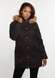 Winterjacke Sherpa Lined Peached Parka black