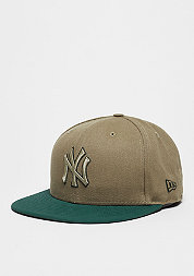 Fitted-Cap Team Duck Canvas 59Fifty MLB New York Yankees stone/green