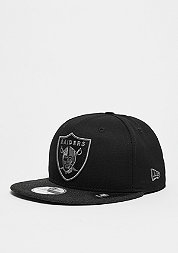 Snapback-Cap Heather Mix 9Fifty NFL Oakland Raiders black/black