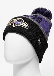 Beanie Sideline Bobble Knit NFL Baltimore Ravens official
