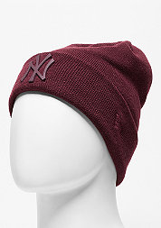 Beanie Metal Badge Cuff MLB New York Yankees maroon