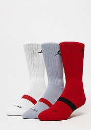 Sortsocke Drifit Crew 3PPK gym red/wolf grey/white