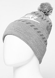 Beanie Futura Pom carbon heather/white/dark grey