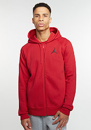 Hooded-Zipper Flight Fleece Full-Zip gym red/black