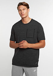 T-Shirt Tech Knit Pocket black/anthracite