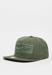 Snapback-Cap Box Logo olive/black