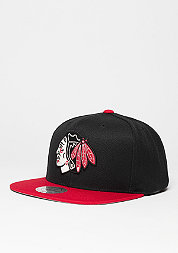 Snapback-Cap Current Throwback NHL Chicago Blackhawks black/red