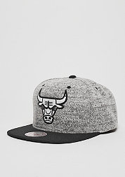 Snapback-Cap Grey Heather NBA Chicago Bulls grey/black