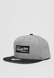 Snapback-Cap Heather Micro grey heather/black