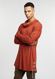 Longsleeve Cowl Neck Laced Sides rust