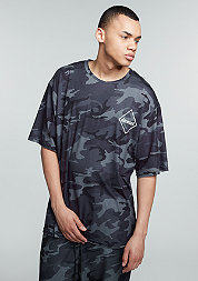 T-Shirt Skater Fit black/camo
