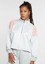 Übergangsjacke Oversized Troyer rose/grey/white
