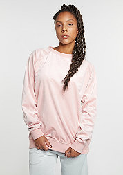 Sweatshirt Oversized Velvet Crew rose