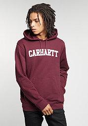 Hooded sweatshirt College chianti/white