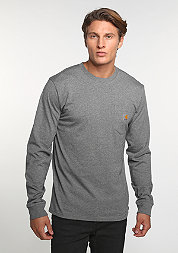 Longsleeve Pocket dark grey heather
