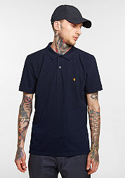 Polo Slim Fit navy/gold