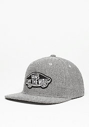Snapback-Cap Classic Patch charcoal/black