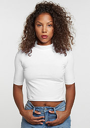 T-Shirt Cropped Turtleneck white