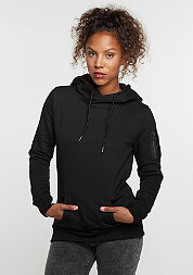 Hooded-Sweatshirt Bomber black