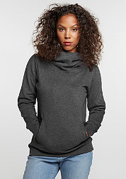 Hooded-Sweatshirt High Neck charcoal