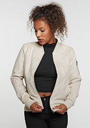 Imitation Suede Bomber sand