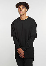 Sweatshirt Long 2 In 1 Terry black