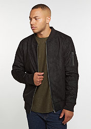 Imitation Suede Bomber black