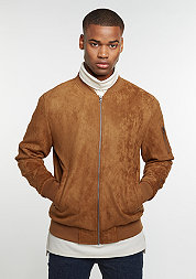 Imitation Suede Bomber toffee