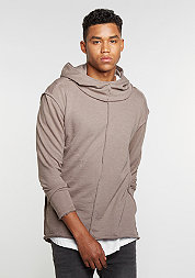 Hooded-Sweatshirt Long Slub Terry Open Edge taupe