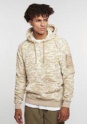 Hooded-Sweatshirt Camo Bomber beige camo