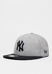 Fitted-Cap Heather Contrast MLB New York Yankees heather grey
