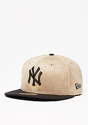 Fitted-Cap Seasonal Suede Crown MLB New York Yankees wheat/black