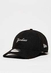 Baseball-Cap Side Perf Script MLB New York Yankees black