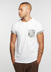 T-Shirt Hunter Pocket white/camo/stone