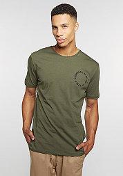 T-Shirt Grave olive/black