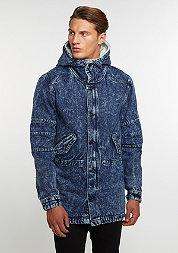 C&S Jacket ALLDD Denim Parka blue denim acid wash