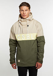 C&S Jacket CSBL Three Peat Anorak olive/sand/pale yellow