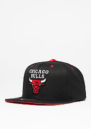 Snapback-Cap Solid Velour Logo NBA Chicago Bulls black