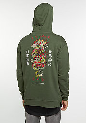 CD Hood Dragon olive/multi