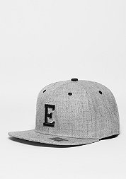 Snapback-Cap Letter E heather grey