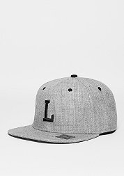 Snapback-Cap Letter L heather grey