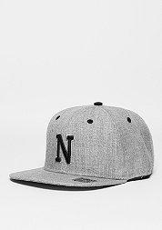 Snapback-Cap Letter N heather grey
