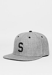 Snapback-Cap Letter S heather grey