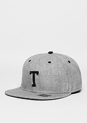 Snapback-Cap Letter T heather grey