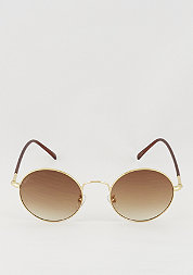 Sonnenbrille Flower gold/brown