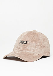 Baseball-Cap Velours taupe