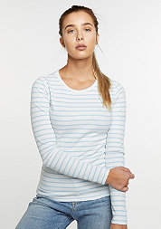 Longsleeve Stripes white/light blue