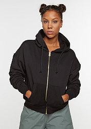 Hooded-Zipper Sweat black